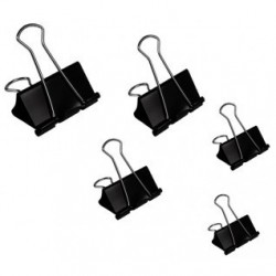 Molle double clip - nero/acciaio - 50 mm