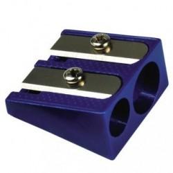 Temperamatite in metallo - 2 fori - blu