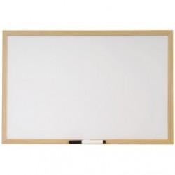 Lavagna bianca con cornice in legno - 40x60 cm