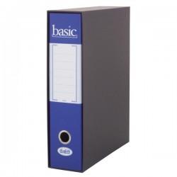 Raccoglitore Registratore Basic - Formato Protocollo - Dorso 8 cm - blu