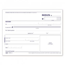 Ricevute di pagamento per attività sportive dilettantistiche - Blocco - 50 fogli autoricalcanti