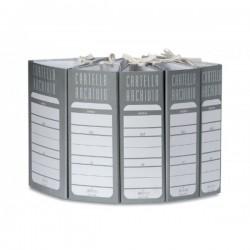 Faldone con lacci - Dorso 8 cm - 34,5x25 cm - grigio