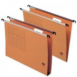 Cartelle sospese - da cassetto - Interasse 39 cm - Fondo a U - arancio
