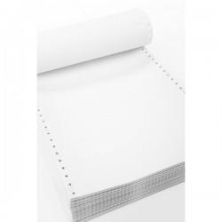 """Carta a modulo continuo - 2 copie - bianco - 24 x 11"""" - piste staccabili"""