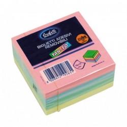 Cubi a foglietti riposizionabili Tak-To - 75x75 mm - Colori pastello