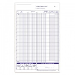 Registri corrispettivi - Primanota dettaglianti (Corrispettivi del mese) - Blocco - 12 fogli