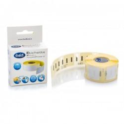 Rotolo 1100 etichette removibili in carta termica - 13x25mm - multiuso. Compatibili Dymo LW