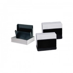 Schedario in plastica - capacità 300 schede - per schede 10,5x15 cm
