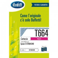 Cartuccia ink jet - Compatibile - C13T664340 - magenta