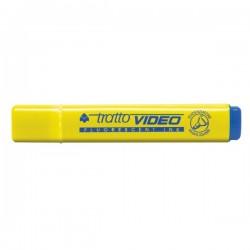 Evidenziatore Tratto Video - giallo - Tratto 1- 5 mm - Punta a scalpello
