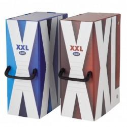 Scatola con maniglia XXL - Dorso 12 cm - 35x25 cm - blu