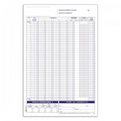 Registri corrispettivi - Primanota dettaglianti (Corrispettivi del mese) - Blocco - 24 fogli