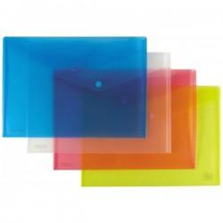 Buste con bottone - Polipropilene trasparente - 29,7x21 cm - bianco