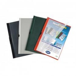 Cartellina colori coprenti con clip - 60 fg - PVC - 29,7x21 cm - blu