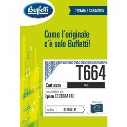 Epson Cartuccia ink jet - Compatibile - C13T664140 - nero
