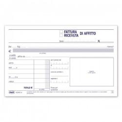 Condominio - Ricevute - Fatture di affitto - Blocco - 50 fogli - 10x16,8 cm