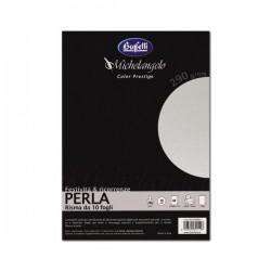 Cartoncini metallizzati Michelangelo Color Prestige -- A4 120 g - perla