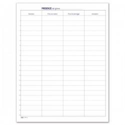 Presenze dipendenti e visitatori - Firme di presenza - Registro - 49 pagine