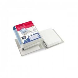 Cartella Dual Pocket Premium - 4 anelli - a D - Diametro 30 mm - 30x22 - bianco