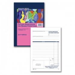 Fattura Semplificata per Regime Forfettario - Blocco 50/50 - 21,5x14,8 cm