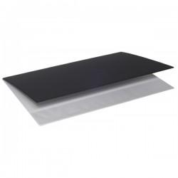 Sottomano in plastica soft - 2 specchi - f.to 49x34,5 cm - nero