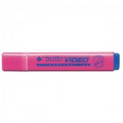 Evidenziatore Tratto Video - rosa - Tratto 1- 5 mm - punta a scalpello