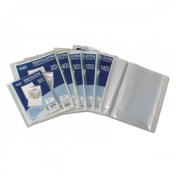 Portalistini personalizzabili - Polipropilene - 60 buste - 30x22 cm - bianco trasparente
