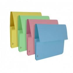 Cartelline con tasca a soffietto - cartoncino - 225 g/mq - 25,5x32,5 cm