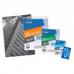 Buste a sacco portadocumenti - Polipropilene - 8,5x5,4 cm - carta di credito - Quality - Spessore alto