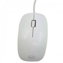 Mouse ottico USB 1200 dpi - bianco - Linea Black White