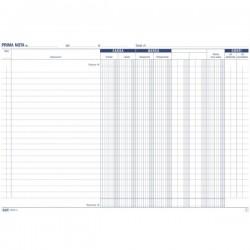Primanota cassa (entrate/uscite + due doppie colonne, partite fuori cassa) - Blocco 50/50 fogli autoricalcante - 21,5x29,7 cm