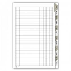 Registro Scadenzario gennaio/dicembre - 8 pagine/mese con spirale - 29,7x21 cm