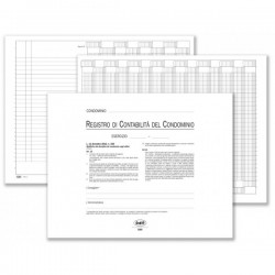 Registro di contabilità del condominio (colonne pre-intestate con voci più ricorrenti) - 37 pagine - 24x31,5 cm