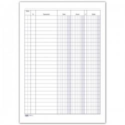 Registro Dare/Avere/Saldo - 100 pagine - 24x17 cm