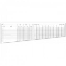 Registro Entrate/Uscite - con 10 colonne di classificazione - testatina fissa - 50 pagine - 31x24,5 cm