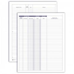 Registro Libro Soci di società - partitario - 49 pagine prenumerate - 31x24,5 cm