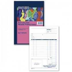 Fattura per Regime Forfettario - Blocco 50/50 fogli autoricalcanti - 21,5x14,8 cm