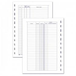 Registro Effetti - Scadenzario gennaio/dicembre per soli effetti attivi - 4 pagine per mese con spirale - 24x17 cm