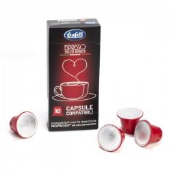 Capsule caffè Buffetti compatibili NESPRESSO®* - 10 capsule - Senza glutine
