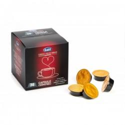 Capsule caffè Buffetti compatibili LAVAZZA®* A MODO MIO®* - 36 capsule - Senza glutine