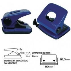 Perforatore a 2 fori - 25 fogli - blu