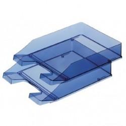 Vaschetta portacorrispondenza - blu trasparente